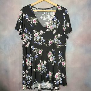 Torrid Flower Short Sleeve Blouse